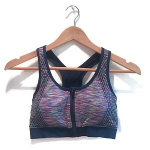 NWOT Sports bra with front zip size XS
